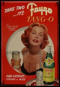 2z089 ARLENE DAHL standee 1950s great smiling c/u of the sexy redhead for Faygo Tang-o!