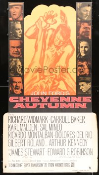 2z091 CHEYENNE AUTUMN style Z standee 1964 John Ford directed, Carroll Baker w/ Native Americans!