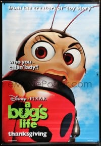 2z116 BUG'S LIFE 2 2-sided vinyl banners 1998 Disney/Pixar computer animated insect cartoon!