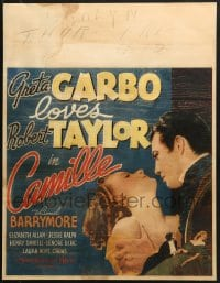 2z013 CAMILLE jumbo WC 1937 romantic close up of pretty Greta Garbo & young Robert Taylor!