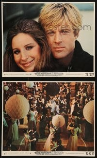 3a077 WAY WE WERE 2 8x10 mini LCs 1973 w/close-up image of Barbra Streisand, Robert Redford!