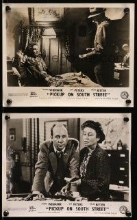3a879 PICKUP ON SOUTH STREET 2 English FOH LCs 1953 Richard Widmark & Jean Peters, Samuel Fuller!