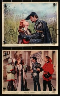 3a039 ADVENTURES OF QUENTIN DURWARD 6 color 8x10 stills 1955 Robert Taylor, pretty Kay Kendall!