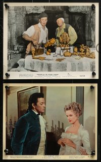 3a048 CORNEL WILDE 5 color 8x10 stills 1950s-1960s with Ann Francis in The Scarlet Coat and more!
