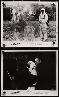3a166 CRAZIES 17 8x10 stills 1973 George Romero, creepy images, Code Name Trixie!