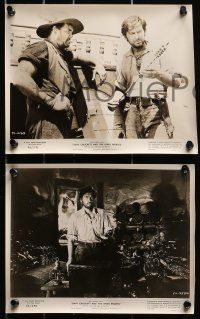 3a296 DAVY CROCKETT & THE RIVER PIRATES 11 8x10 stills 1956 Disney, Fess Parker in the title role!