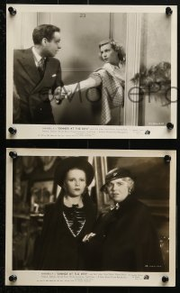 3a659 DINNER AT THE RITZ 5 8x10 stills 1937 Annabella & David Niven find who murdered her rich father!