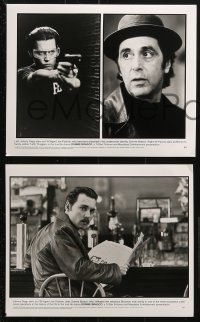 3a383 DONNIE BRASCO 9 8x10 stills 1997 Al Pacino is betrayed by undercover cop Johnny Depp!