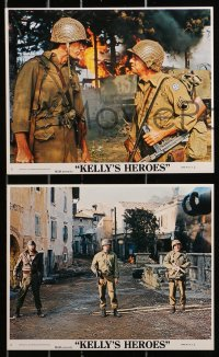 3a024 KELLY'S HEROES 8 8x10 mini LCs R1975 Eastwood, Sutherland, Savalas & Rickles, cool images!