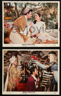 3a001 LIFE, LOVES & ADVENTURES OF OMAR KHAYYAM 14 color 8x10 stills 1957 sexy Debra Paget, Rennie!