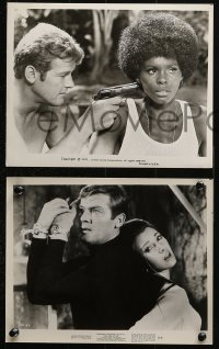 3a818 LIVE & LET DIE 3 8x10 stills 1973 Roger Moore as Ian Fleming's James Bond, Jane Seymour!