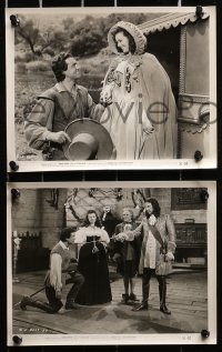 3a123 LORNA DOONE 23 8x10 stills 1951 swashbuckler Richard Greene & pretty Barbara Hale!