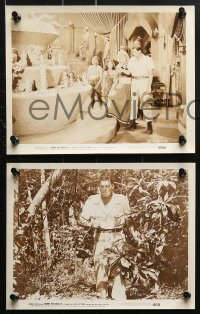 3a469 LOST TRIBE 8 8x10 stills 1949 Johnny Weissmuller as Jungle Jim, pretty Myrna Dell!