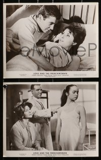 3a395 LOVE & THE FRENCHWOMAN 9 8x10 stills 1961 like Kinsey Report, Jean Paul Belmondo, Carol!