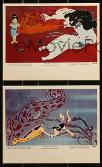 3a044 MAGIC BOY 6 color 8x10 stills 1961 Japanese animated ninja fantasy adventure, early anime!