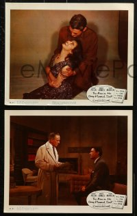 3a010 MAN IN THE GRAY FLANNEL SUIT 9 color 8x10 stills 1956 Gregory Peck, Jennifer Jones, March, Pavan!