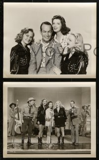 3a397 MELODY STAMPEDE 9 8x10 stills 1945 Will Cowan, great images of country music stars!