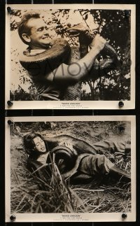 3a683 NAKED AMAZON 5 8x10 stills 1955 South American jungle adventure, great images!