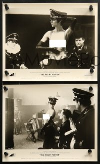 3a120 NIGHT PORTER 24 8x10 stills 1974 w/ topless Charlotte Rampling dancing for Nazi soldiers!