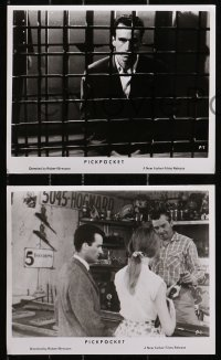 3a760 PICKPOCKET 4 8x10 stills 1963 Robert Bresson, cool images of Martin LaSalle!