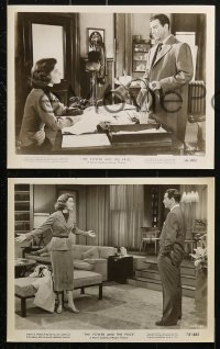 3a404 POWER & THE PRIZE 9 8x10 stills 1956 Robert Taylor, Mary Astor, Burl Ives, Charles Coburn!