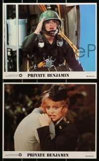 3a035 PRIVATE BENJAMIN 7 8x10 mini LCs 1981 Eileen Brennan, Assante, Goldie Hawn in the army!