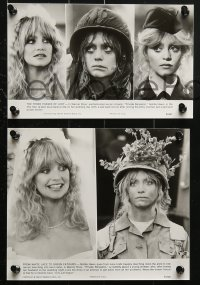 3a551 PRIVATE BENJAMIN 7 from 5.75x9.25 to 7.75x9.5 stills 1981 Eileen Brennan, Assante, Goldie Hawn in the army!