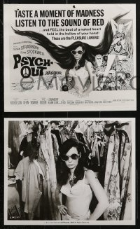 3a613 PSYCH-OUT 6 8x10 stills 1968 Jack Nicholson & Susan Strasberg, psychedelic drugs!