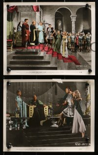 3a062 SALOME 4 color 8x10 stills 1953 two with images of sexiest Rita Hayworth in the title role!