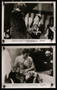 3a412 SECRET PEOPLE 9 8x10 stills 1952 Valentina Cortese, one with a young Audrey Hepburn!