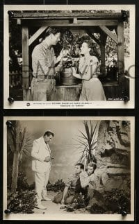 3a415 SHADOW OF TERROR 9 8x10 stills 1945 men shadowed & hunted for secret of atomic bomb!