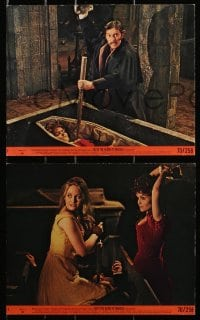 3a069 TASTE THE BLOOD OF DRACULA 3 8x10 mini LCs 1970 Hammer horror, vampire Christopher Lee!