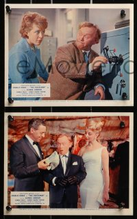 3a015 CRACKSMAN 8 color English FOH LCs 1963 Charlie Drake, George Sanders, sexy English babes