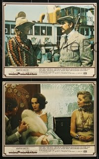 3a026 MURDER ON THE ORIENT EXPRESS 8 color English FOH LCs 1974 Agatha Christie, Finney as Poirot!