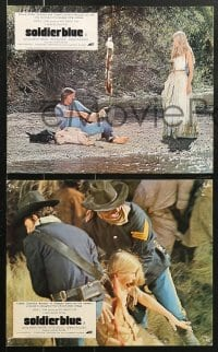 3a037 SOLDIER BLUE 7 color English FOH LCs 1970 Bergen, Strauss, Pleasence, most savage film!
