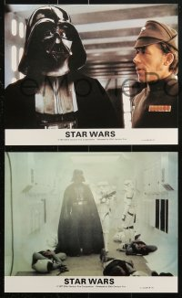 3a032 STAR WARS 8 color English FOH LCs 1977 George Lucas classic, Darth Vader, Luke, Han, Leia!