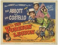 3b026 ABBOTT & COSTELLO IN THE FOREIGN LEGION TC 1950 great wacky art of Bud Abbott & Lou Costello!