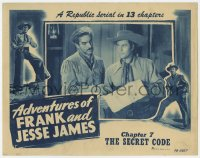 3b347 ADVENTURES OF FRANK & JESSE JAMES chapter 7 LC 1948 Clayton Moore & Darrell, Secret Code!