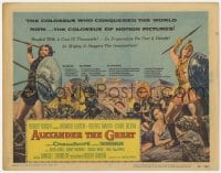 3b031 ALEXANDER THE GREAT TC 1956 art of Richard Burton & Frederic March as Philip of Macedonia!