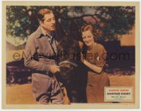 3b354 AMATEUR DADDY LC 1932 close up of Warner Baxter & happy Marion Nixon with donkey!