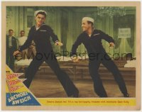 3b356 ANCHORS AWEIGH LC #2 1945 toe-tapping twosome Frank Sinatra & Gene Kelly in sailor suits!