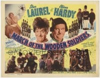 3b042 BABES IN TOYLAND TC R1950 Stan Laurel & Oliver Hardy in March of the Wooden Soldiers!