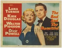 3b044 BAD & THE BEAUTIFUL TC 1953 Vincente Minnelli directed, sexy Lana Turner and Kirk Douglas!