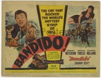 3b046 BANDIDO TC 1956 Robert Mitchum & sexy Ursula Thiess rocked the world's hottest strip of Hell!