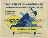 3b047 BATTLE OF THE SEXES TC 1960 Peter Sellers, Charles Crichton English comedy, cartoon art!