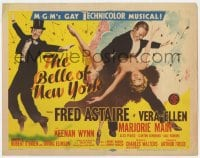 3b053 BELLE OF NEW YORK TC 1952 great artwork of Fred Astaire & sexy Vera-Ellen dancing!