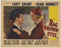 3b360 BIG BROWN EYES LC 1936 romantic close up of Cary Grant & Joan Bennett, ultra rare!