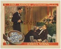 3b361 BIG BUSINESS GIRL LC 1931 Ricardo Cortez glares at Frank Albertson after punching him!