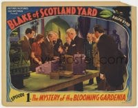 3b367 BLAKE OF SCOTLAND YARD chapter 1 LC 1937 Mystery of the Blooming Gardenia, full-color!