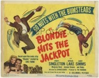 3b061 BLONDIE HITS THE JACKPOT TC 1949 Penny Singleton & Arthur Lake, go nuts with the Bumsteads!